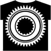 Gear wheel T-shirt